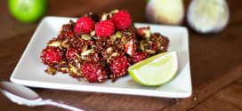 Red Quinoa Fruit Salad with Figs and Raspberries