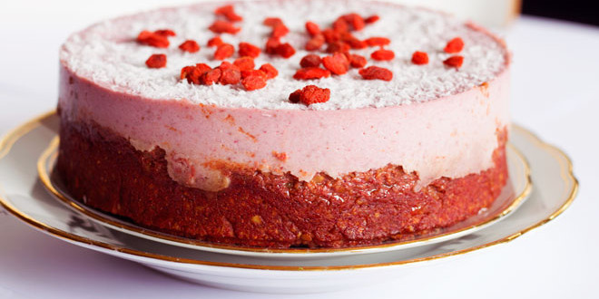 Luscious Strawberry Coconut Cake { Egg, Lactose & Gluten Free }